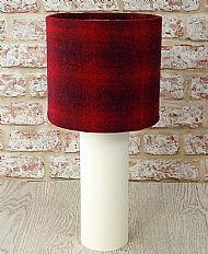 Medium drum lampshade red check