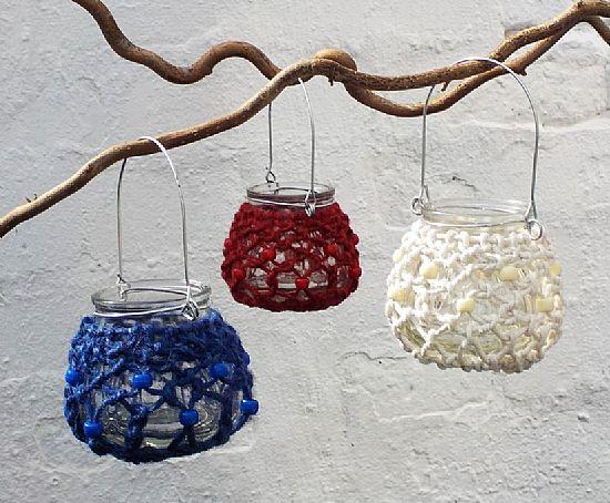 macrame tealight holders by roses workshop