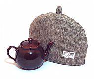 Harris tweed tea cosy - lovat green herringbone