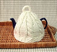 Cream pure wool tea cosy