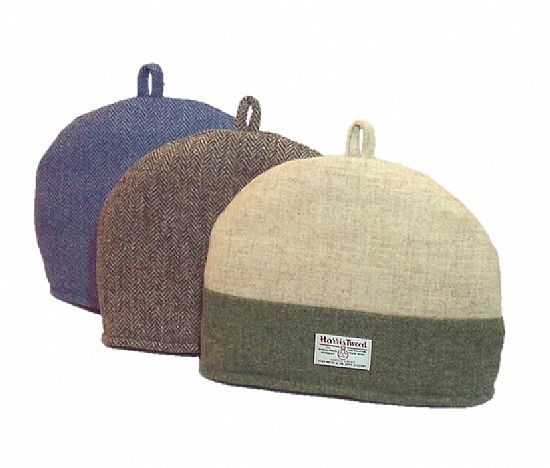harris tweed tea cosies by roses workshop