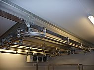 Aluminium rail system for a large butcher in the midlands