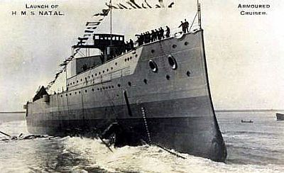 hms natal launched 30 september 1915