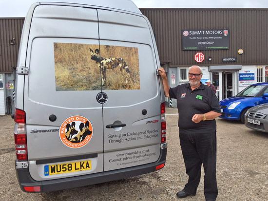 pdc uk new van livery 2