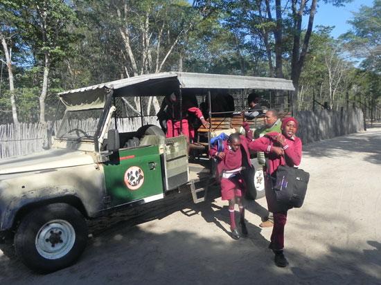 st francis class a arrive at bush camp