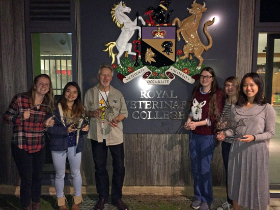 pdc-uk visit to the royal veterinary college