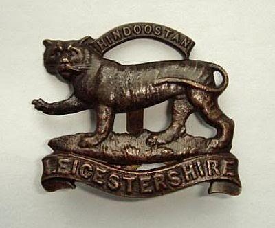 leicestershire regt. great war cap badge