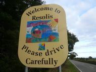 New Resolis Road Sign