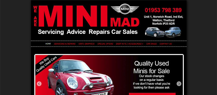 mini mad car sales and servicing