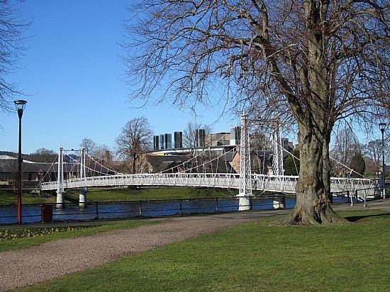 the river scenery near river walk apartment, inverness