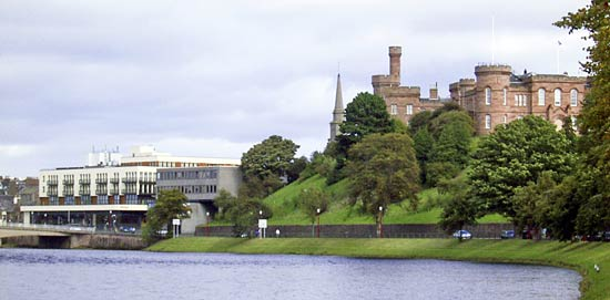 inverness castle by the river