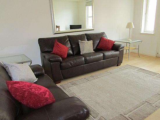 the lounge at river walk apartment, inverness