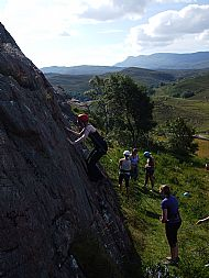 Cardiff WEMS climbing day at Ardheslaig