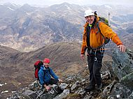 Scrambling on the Forcan Ridge, Glen Shiel