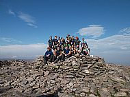 Advocate Events' BNP Paribas 9 Peaks Challenge Team at Ben Macdui summit
