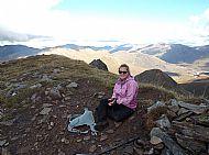 Stacey Kingsbury on Aonach air Chrith, Glen Shiel
