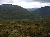 Looking down Coire na Cloiche to Glen Affric Hostel
