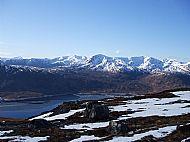 Creag a' Mhaim & Druim Shionnach across Loch Cluanie from Carn Ghluasaid.
