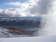 Cloud encroaching onSgurr nan Conbhairean