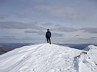 The summit of Druim Shionnach, Glen Shiel