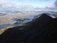 The upper part of Loch Hourn from Ladhar Beinn, Knoydart.