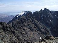 Sgurr Mhic Choinnich & Sgurr Alasdair from Sgurr Dearg. Skye Cuillin.