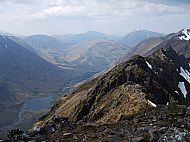 The central part of the Aonach Eagach ridge, Glencoe.