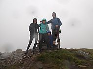 The Deary family from Connecticutt, USA, on Maol Chinn-dearg, Glen Shiel.