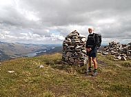 Chris Reeve on his 273rd Munro - Mullach Fraoch-choire