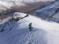 Good snow conditions on Maol Chinn-dearg