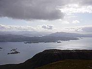 Looking across Loch Kishorn to Plockton from Sgurr a' Chaorachain