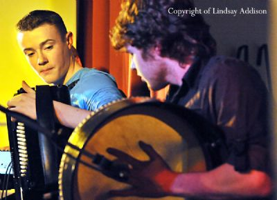 kevin murphy accompanied by david foley performing in coulter hall - copyright of lindsay addison