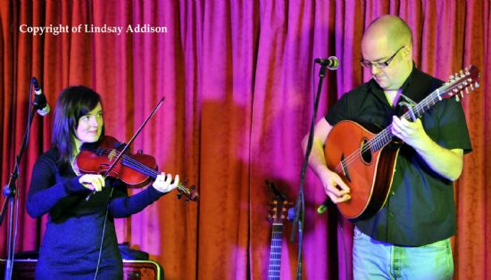 claire mann and aaron jones at the elphinstone hotel, biggar