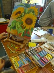 Pastel Drawing at Turriffic Arts