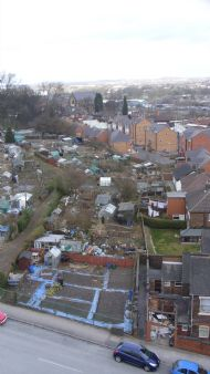 richmond street, penkhull, allotments,2010