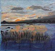 Sunset, Acrylic, J. Chen