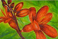 Flowers, Acrylic, L. Walker