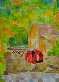 Watermill after Paul Klee, L Walker