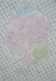 Graphite, pastel on paper