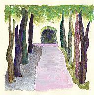Untitled (walking), mixed media, 20x20 cm