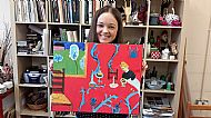 After Matisse, acylic painting by Olivia