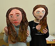Celebrity masks by Sarah & Emily