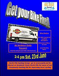 23 June 2018 Dr Bike session 2-4 pm Tayport Harbour