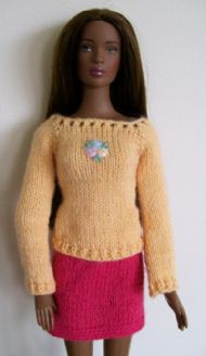 Flared Sleeve Top and Skirt for Esme