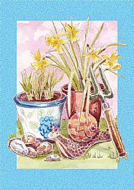 Snail & Daffodils