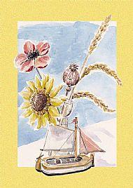 Sunflower & Boat