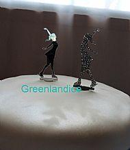 Swarovski mirror cake topper