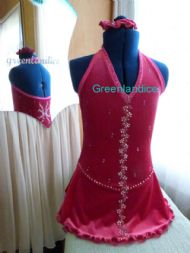 Cerise Halter Neck Dress