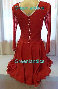 Jeannie design in Red Back View