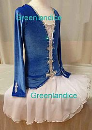 Royal Blue/White March Dress PL